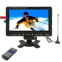analog car radio - 9 inch Wide LCD Car mini monitor Analog TV with FM Radio Support SD MMC Card USB flash disk