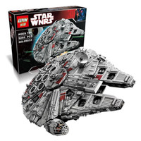 Wholesale LEPIN Star Wars Ultimate Collector Millennium Falcon Model Building Kit Blocks Bricks Toy with retail box DHL SHIPPING