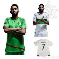 Wholesale in stock new ALGERIE Algerienne Soccer Jerseys Algeria Shirts Football SHIRTS Riyad Mahrez Nabil Bentaleb size S XL