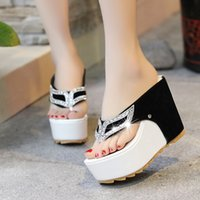 Wholesale 2016 new round Europe clip toe wedges waterproof shoes heel sandals ultra pure Rhinestone hot commodity