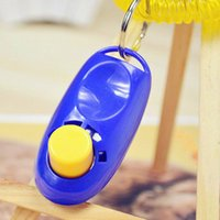 Wholesale Hot Sales Pet Supplies Dog Cat Puppy Click Clicker Training Obedience Trainer Aid Tools Plastic Mixed Colors