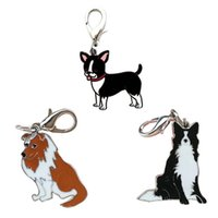 bags dog tags - Hot Cute Dog Tag Keychain Drop shipping Metal Key Rings For Gift Chaveiro Key chain Jewelry for Cars Bags