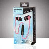ad yellow - Original new Wireless Bluetooth AD Stereo Earphone Fashion Sport Running Studio Music Headset For Smartphone