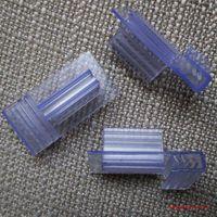 Wholesale Custom PVC shelf data strip hook grip clip POP label holder suppermarket shelf promotion sign snap