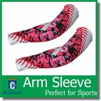 baseball ribbons - 2016 Pink Ribbon Arm Sleeves Camo Sports Arm Sleeve for softball baseball Compression arm sleeve colors