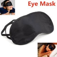 Wholesale 3 Portable Soft Travel Sleep Rest Aid Eye Mask Cover Eye Patch Sleeping Mask Black Shade Blindfold Eye Patch H072