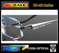 Wholesale Optical Eyewear Men Brand Titanium Alloy Frame Rimless Spectacle Men KD Series EXIA OPTICAL