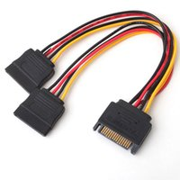 Wholesale NEW SATA pin Hard Disk Power Male to Female Splitter Y to extension Cable