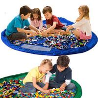 achat en gros de stockage pour les jouets-2016 tapis de jeu de bébé coloré 150 tapis de jeu de 45cm sac de rangement de jouets sac de rangement de jouets portatifs housse de couvertures jouets Organisateur cadeau de Noël