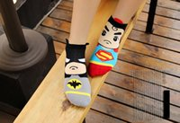 animal sox - USA Super big eyes Heroes Batman Superman Jacquard Socks men s women s ankle socks lover s gift sox short tube ankle cotton socks