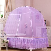 air conditioner curtains - Mongolian Yurt Mosquito nets Double Door Encryption nets Air Conditioner M M Tent Nets Bed Curtain Simple Assembly Tent