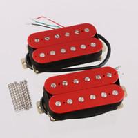 Wholesale Humbucker Guitar Pickup Set Bridge and Neck Ceramic Magnet Red HBC RD