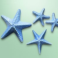 Wholesale 3 zebra creative wall mural pendant ornaments Mediterranean European modern ceramic starfish