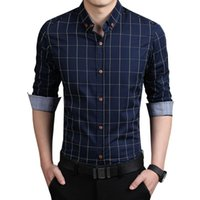 Wholesale In the spring of new shirt sleeved slim type business size thin lattice solid tide