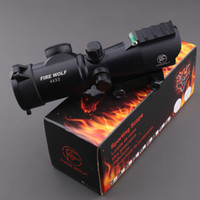 airsoft sniper rifle scope - FIRE WOLF Tactical X32 Red Dot Sniper Scope Airsoft Sight Riflescope Night Vision Rifle Scope for Hunting Shooting