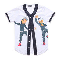 Wholesale New Arrival Fashion Hip Hop Dancing Guys Jersey d All Over Print Baseball T Shirt Summer Men Cool Sport Streetwear Tops Clothes