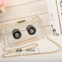 american records - Brand Vintage Tape Record Bag Acrylic Evening Bags CC Tape Recorder Clutch Recording Handbags Party Purse Clear Plastic Messenger A015