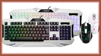 Wholesale the game keyboard mouse suit no keyboard mouse suit Backlit keyboard three color Mechanical mouse and keyboard feel game suits