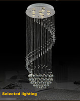 art deco home design - 2016 New Modern Spiral Design Flush Mount K9 Crystal Lighting Chandelier Lustre Cristal Home Liights Dia50 H130cm
