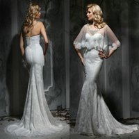 beach list - 2016 New Listing Julie Vino Sweetheart Back Zipper Two Pieces Wedding Dresses with Cape Appliques Zouboutin Vestido Noiva Praia Bridal Gowns
