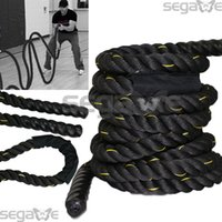 Wholesale 30ft Heavy Battle Rope quot W HD Segawe Fitness Poly Dacron Climbing WOD Training