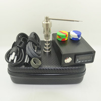 Wholesale E dab nail Electric Nail Box Kit With titanium nail MM Male Female Temperature Controller Box fit to glass Bongs