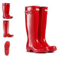 best brand rain boots - Best Selling Women Rain Boots Top Quality Rainboots Wellies Boots Women High Boots Waterproof H brand Boots Rubber outdoor water shoes