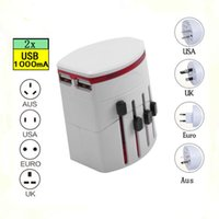 Wholesale Double USB universal travel adapter Power Plug Adapter Travelling Plug Adapter travel adaptor