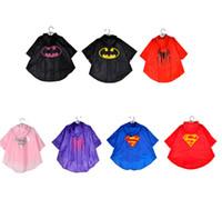Wholesale Kids Waterproof Raincoat batman Raincoat Spiderman Rainsuit Kids Boys Girls Superhero Poncho batman Rain Coat KKA374