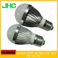 24v e27 led - E27 LED lamp W W W AC220V V AC DC12V V V LED Lights Led Bulb bulb light lighting high brighness Silver metal