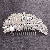 art deco hair comb - Bridal Hair Comb Wedding Hair Rehinestones Crystals Formal Party Hair Piece Flowers Hair Accessories Art Deco Birthday Headwear Headdress BM