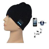 Wholesale smart music hat earphone headphone bluetooth headset wireless headphone earphone for phone black and grey color