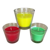air scents - Mingschin g h green red yellow scented aroma home glass jar candle for home decoration air purification