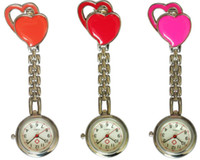 table chest - Quality goods color double heart nurse watch watch pocket watch two hearts medical nursing supe chest table factory sale