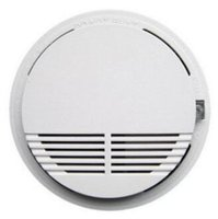 Wholesale Wireless Fire Smoke detector sensor alarm Home Security System White in retail package dropshipping DHL free