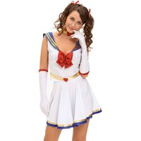 Wholesale Sexy Custom Made Holloween Costume Women Cosplay Anime Sailor Heroine Costume
