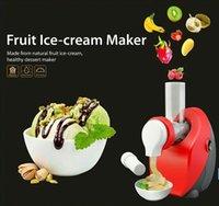 Wholesale NutriChef Dessert Maker and Salad Slicer Shooter Frozen Yogurt Fruit Blender Healthy Snack Machine Fruit DIY ice cream machine