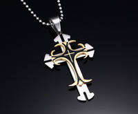 christian - 8 Designs Fashion Men jewelry christian cross pendant L stainless steel metal large cross High Quality8