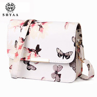 Wholesale SHYAA New spraying type single shoulder bag leisure fashion fashionista handbags women messenger bags nice Printing Butterfly women bag