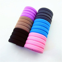 Wholesale Fashion Hair Rubber Band Hair Accessories High Elasticity Wig Ultra Durable Seamless Rubber Band Cheap Cotton Material Cheap Hair Ring women