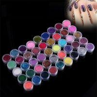 beauty dust - 45 Colors Nail Glitter Excellent Quality Glitter Powder Dust Set For Nail Art Beauty Sticker Flase Tips Desgin