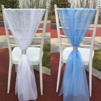Wholesale 2016 Chair Sashes for Weddings New Wedding Supplies Many Color Organza Simple Wedding Covers Romantic Bridesmaid Part Sashes