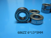 Wholesale 686ZZ ABEC bearings metal Sealed Miniature Mini Bearing Z ZZ mm chrome steel bearing
