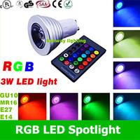 best rgb colors - 2016 Best RGB led spotlight W E27 E26 GU10 MR16 LED Bulbs V V Led Spotlights Colors Change IR Remote Controller