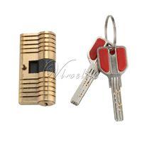 anti theft safes - Top Quality Door Lock Cylinder Locks Solid Brass Lock Security Safe Training Tools Locksmith Tools Key Anti theft Door Lock Security Keys