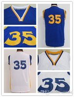 Wholesale Cheap Youth Golden State Kevin Durant Jerseys White Blue Size S XXL Stitched Jersey