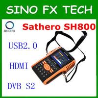 al por mayor satfinder digitales-Sathero SH-800HD DVB-S2 Medidor de Satélite Digital Satfinder HD con Analizador de Espectro 7inch LCD, USB2.0