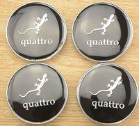 auto mobil - 20pcs kualitas tinggi mm quattro logo Tengah roda mobil Hub cap Auto Badge lambang meliputi styling