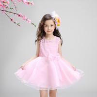 Wholesale Children s princess dress skirt girl s bitter fleabane bitter fleabane skirt flower girl dress white wedding dress is chun xia