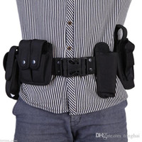 belt buckle kits - Multifunctional Security Belts Outdoor Tactical Military Training Polices Guard Utility Kit Duty Belt Belt with Pouch Set Black H210837